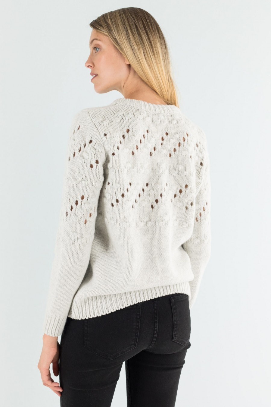 Openwork ice colored jumper