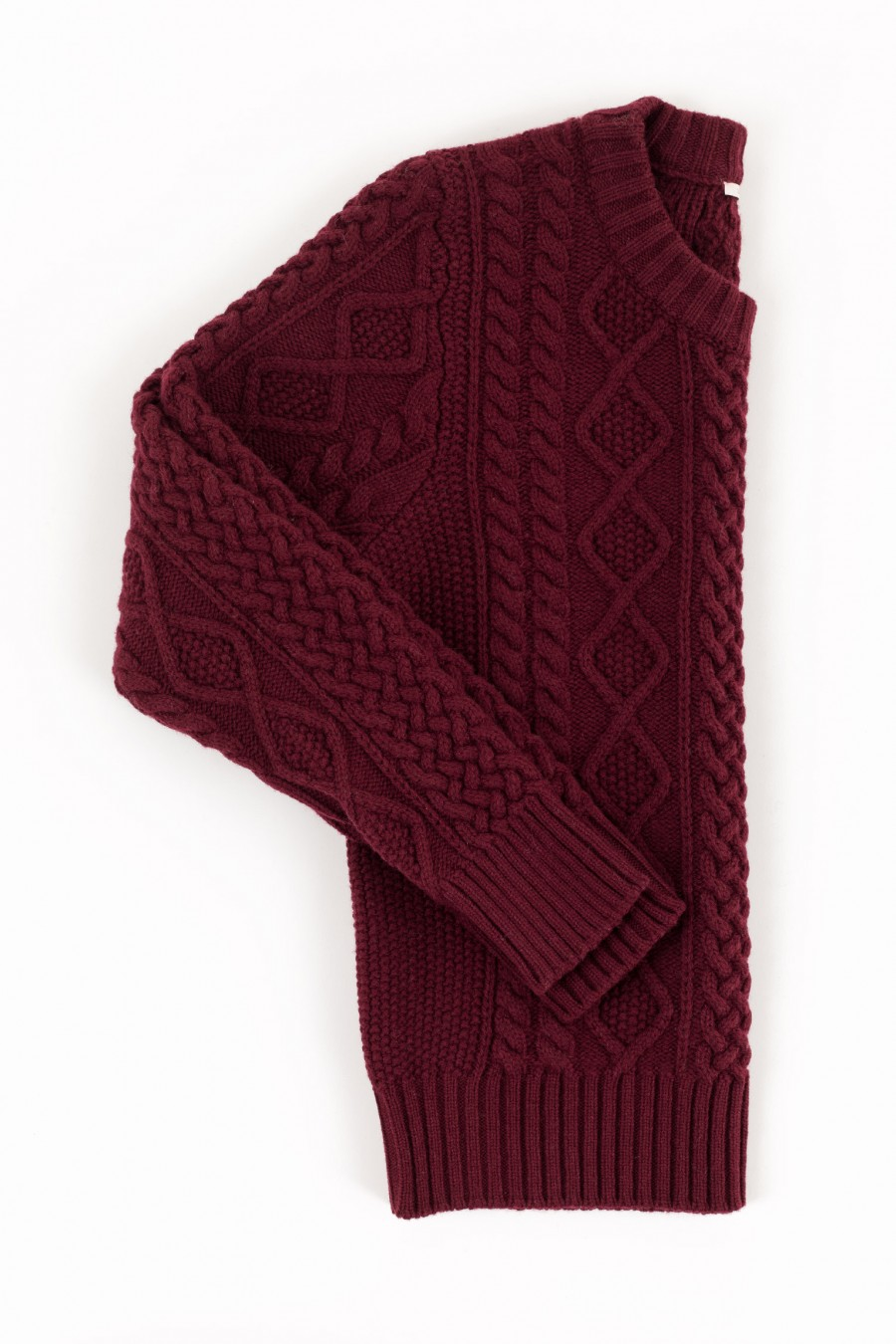 Burgundy fisherman jumper