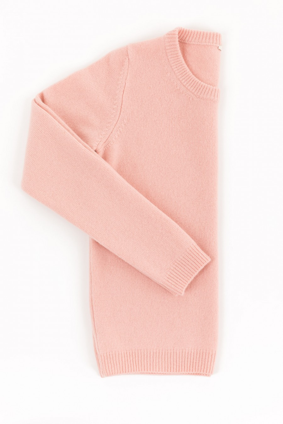 Pink crew neck pullover