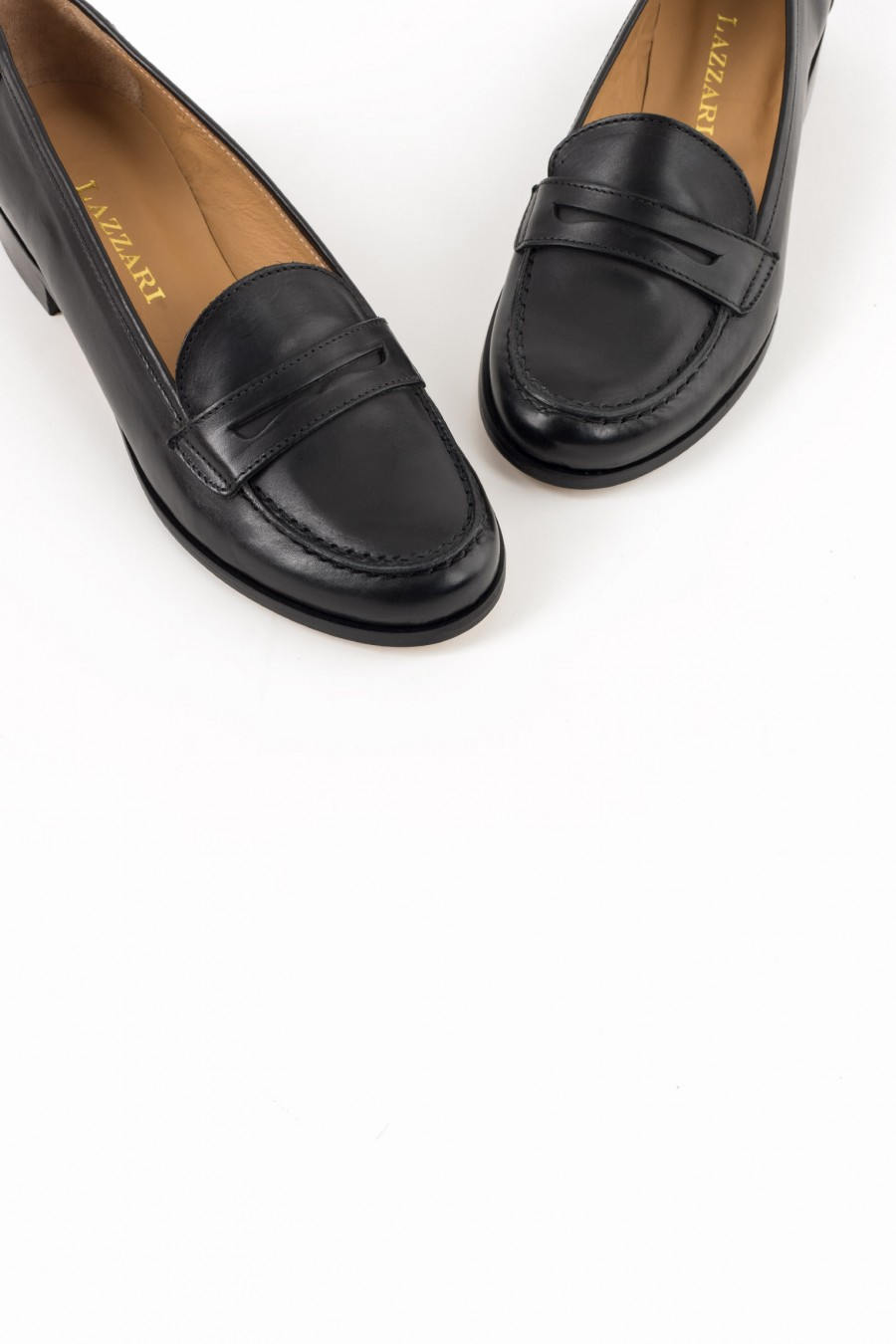 Classic black leather flats