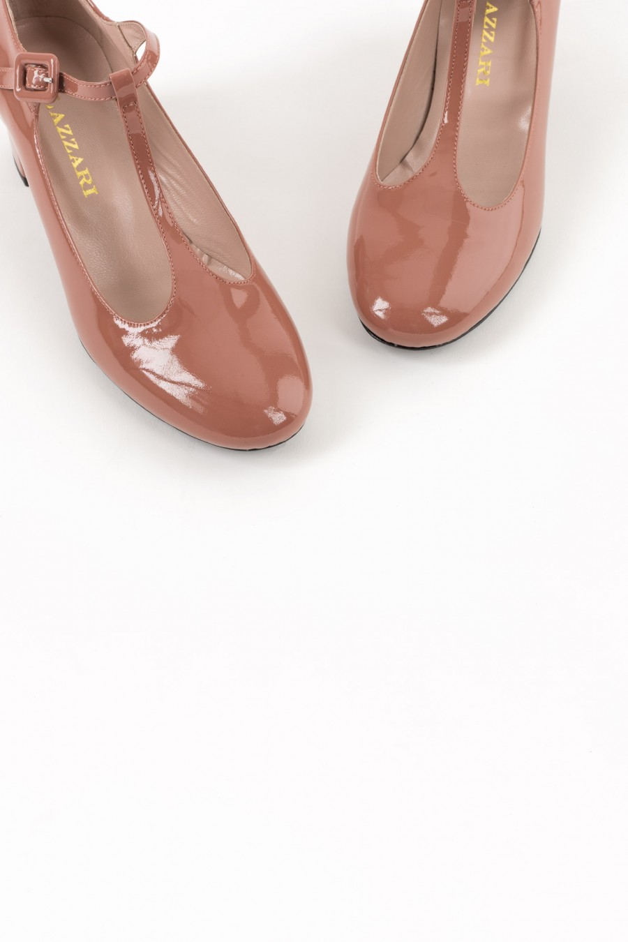 Dusty pink rounded toe bebè shoes