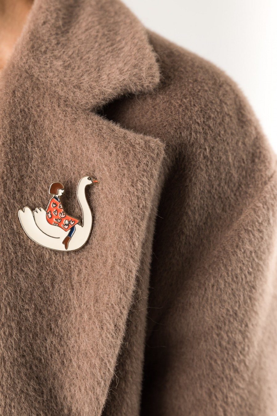 Pin with swan by Jennifer Bouron