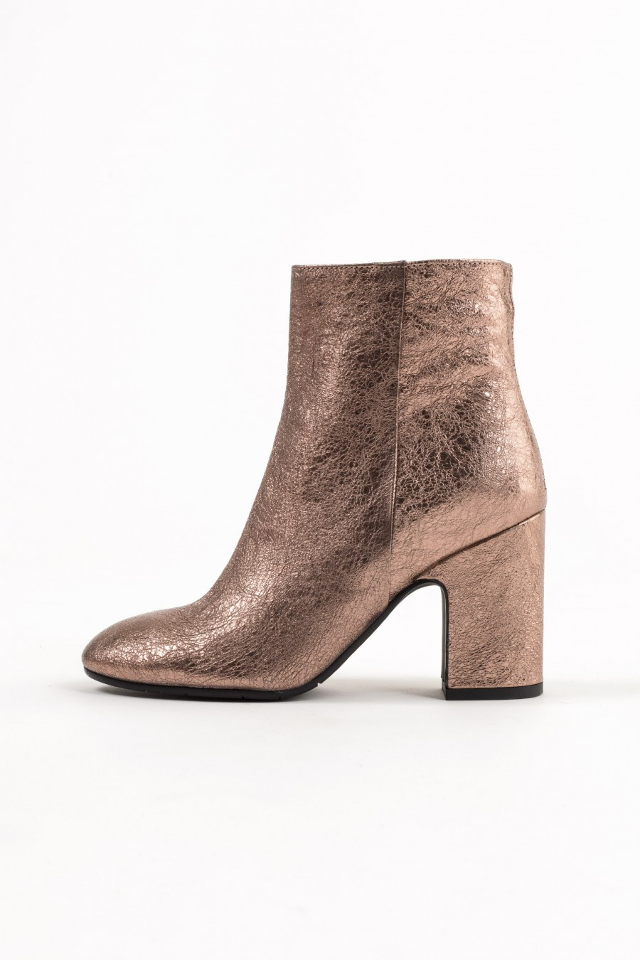 Lazzari pink metallic leather ankle boots