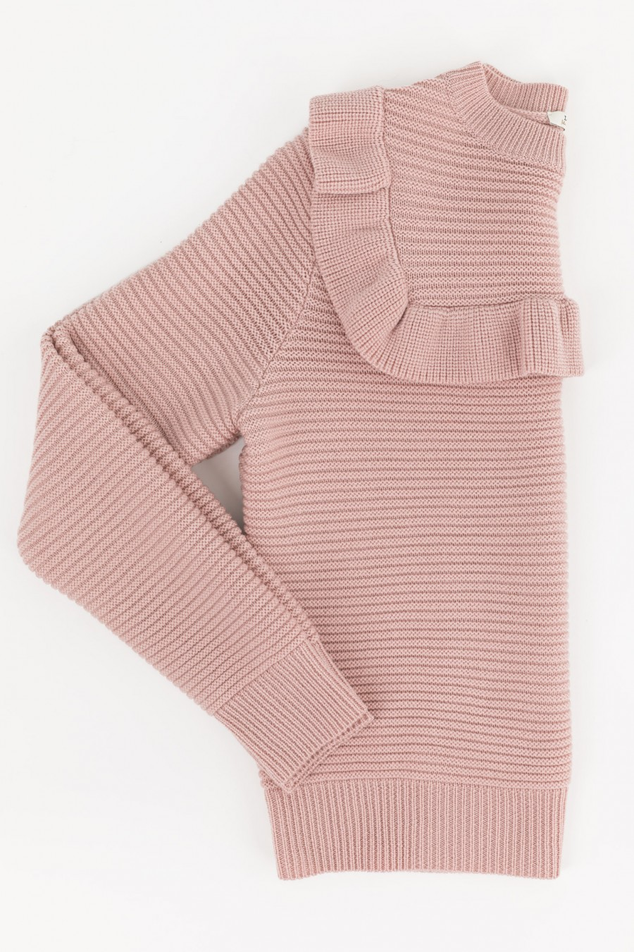 Pink pullover with ruches oh the yoke