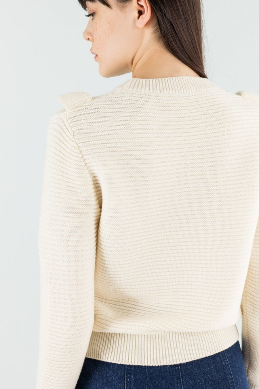 Cream autumnal pullover
