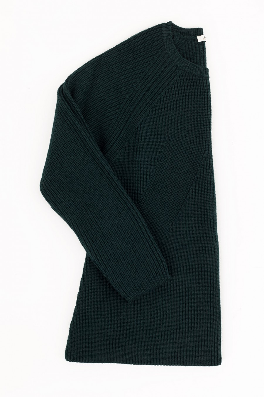 Wool dark green pullover