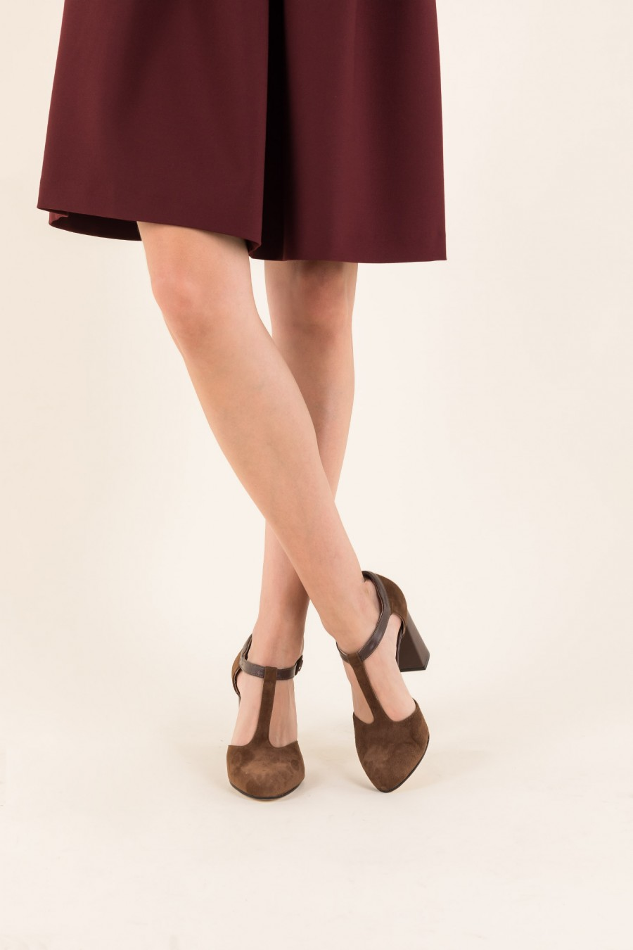 Comfy heels and T-strap shoes