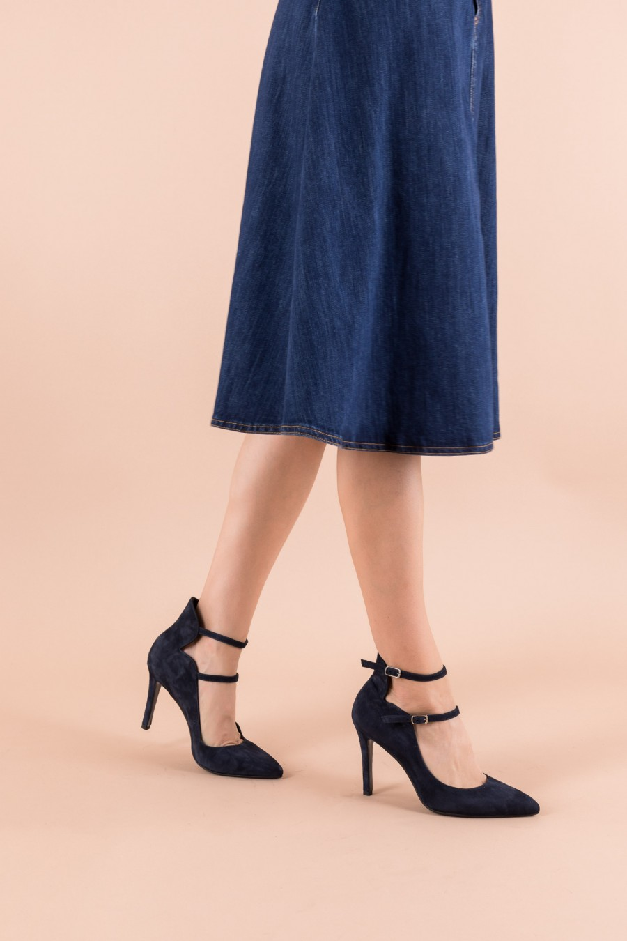 Pumps with double straps