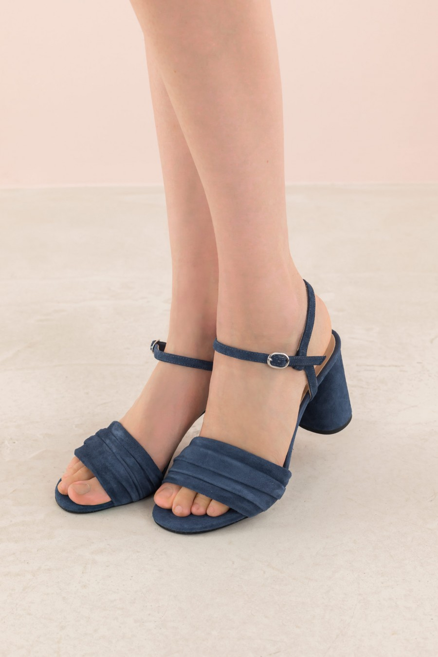 sandal with draped strap