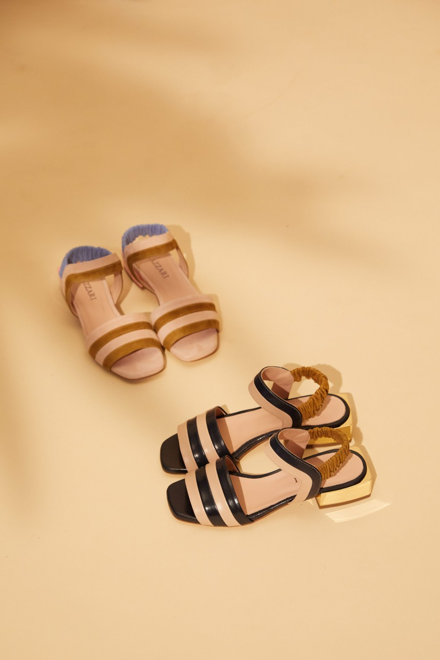 sandals with square heel