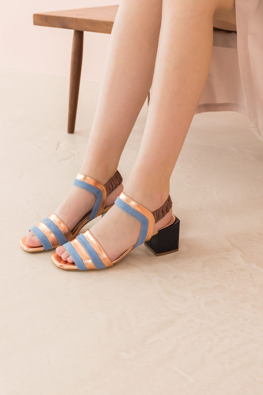 sandal with medium square heel