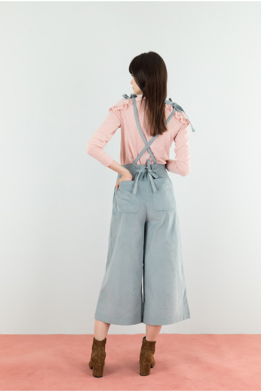 Dungarees with palazzo pants
