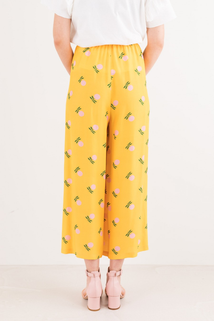 Summer yellow culottes