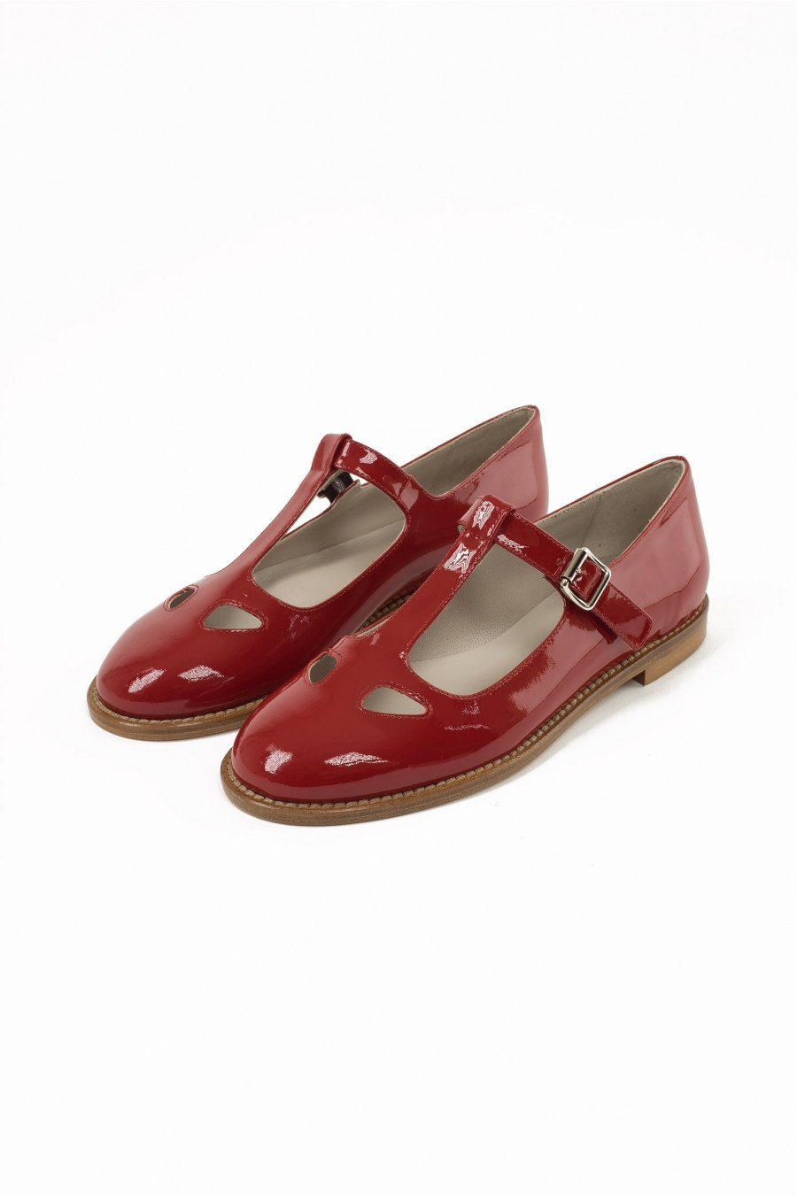 bebè patent leather red