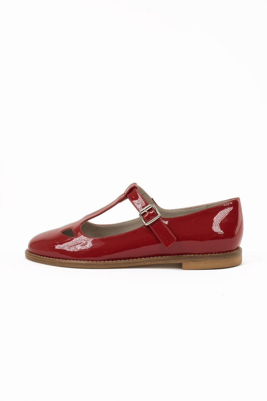 patent leather flat ballerina Lazzari