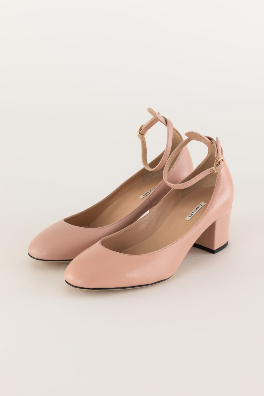 pink Mary Jane with ankle strap