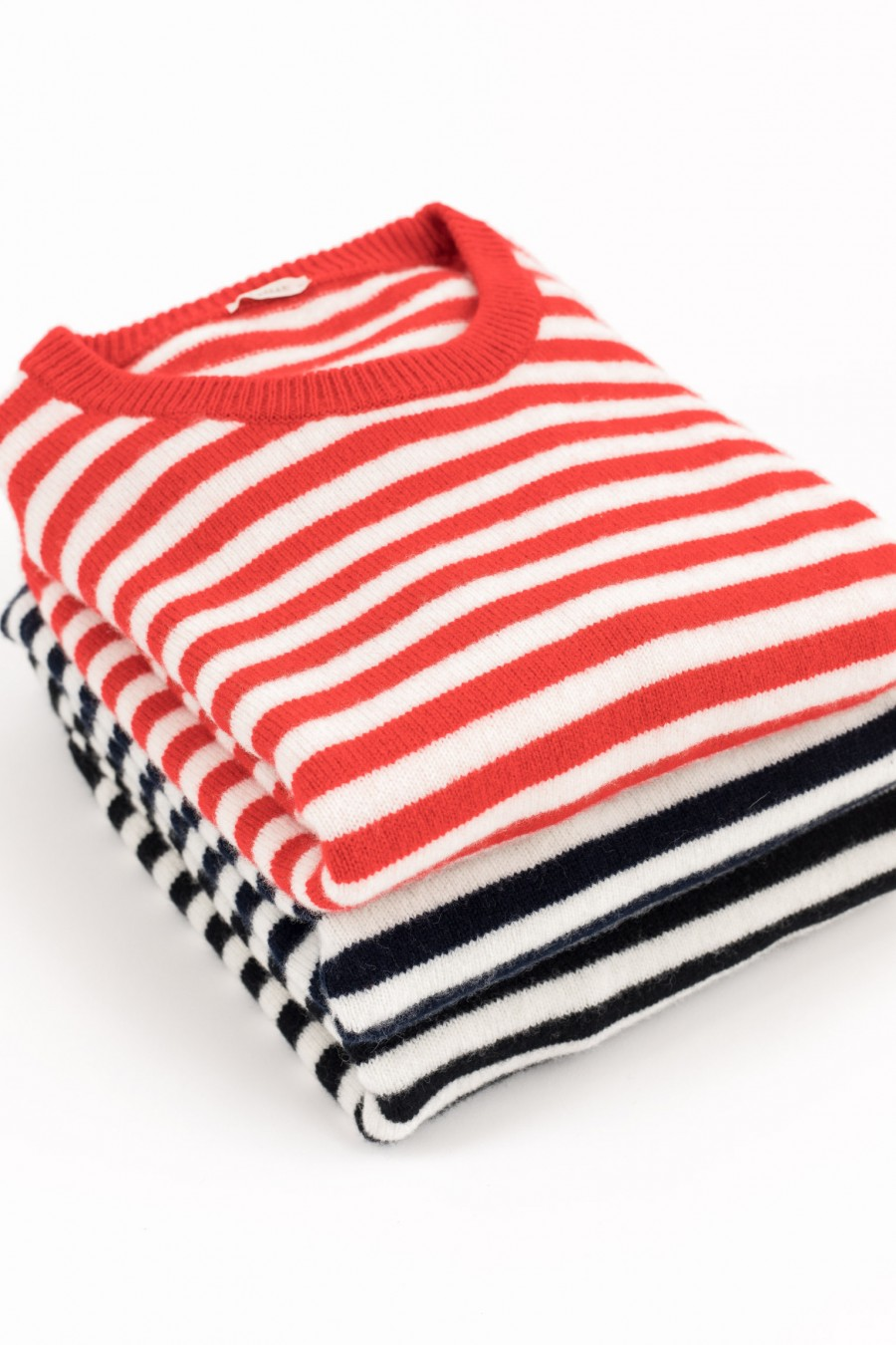Soft striped pullovers